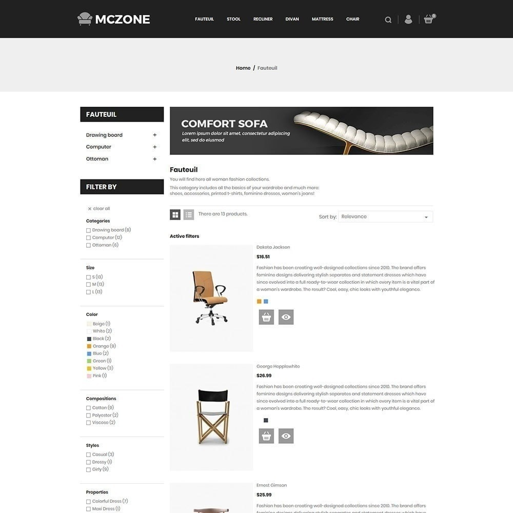 theme - Arte & Cultura - MacZone Furniture Store - 6