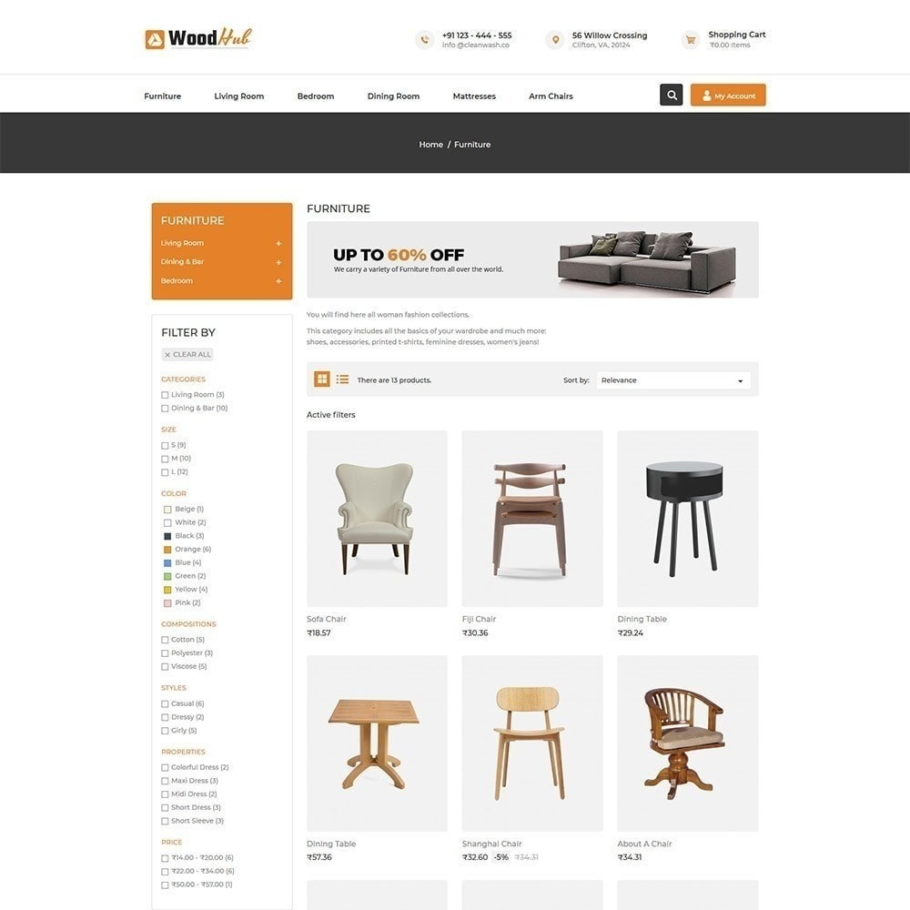 theme - Home & Garden - Woodhub Furniture Store - 4