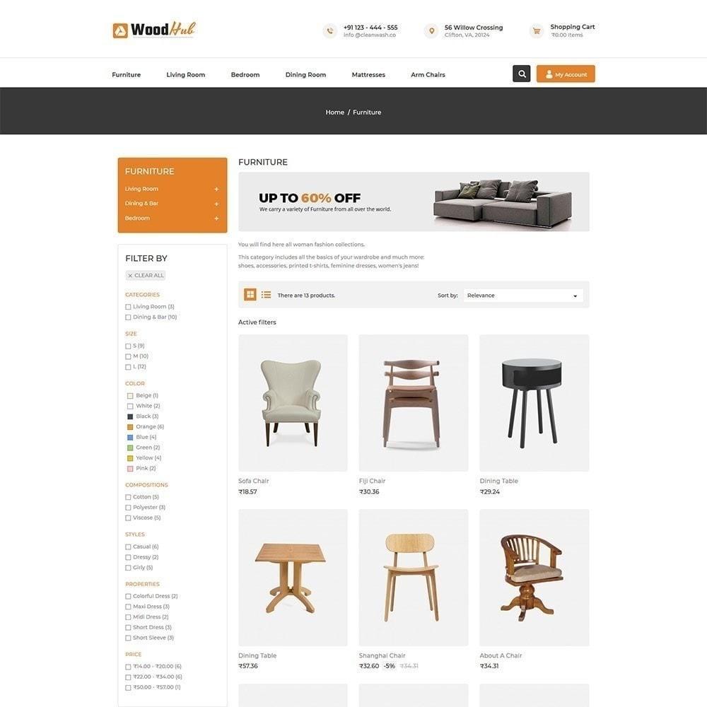 theme - Дом и сад - Магазин мебели Woodhub - 4