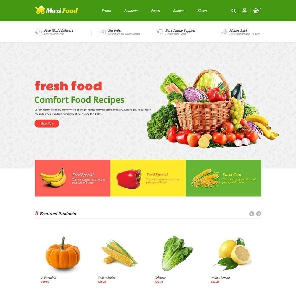 theme - Food & Restaurant - Maxi Food Store - 2