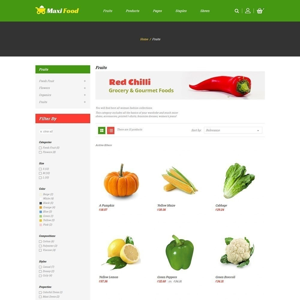theme - Продовольствие и рестораны - Продовольственный магазин Maxi - 3