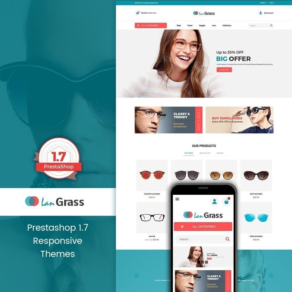 theme - Mode & Schoenen - Lan Grass Fashion Store - 1