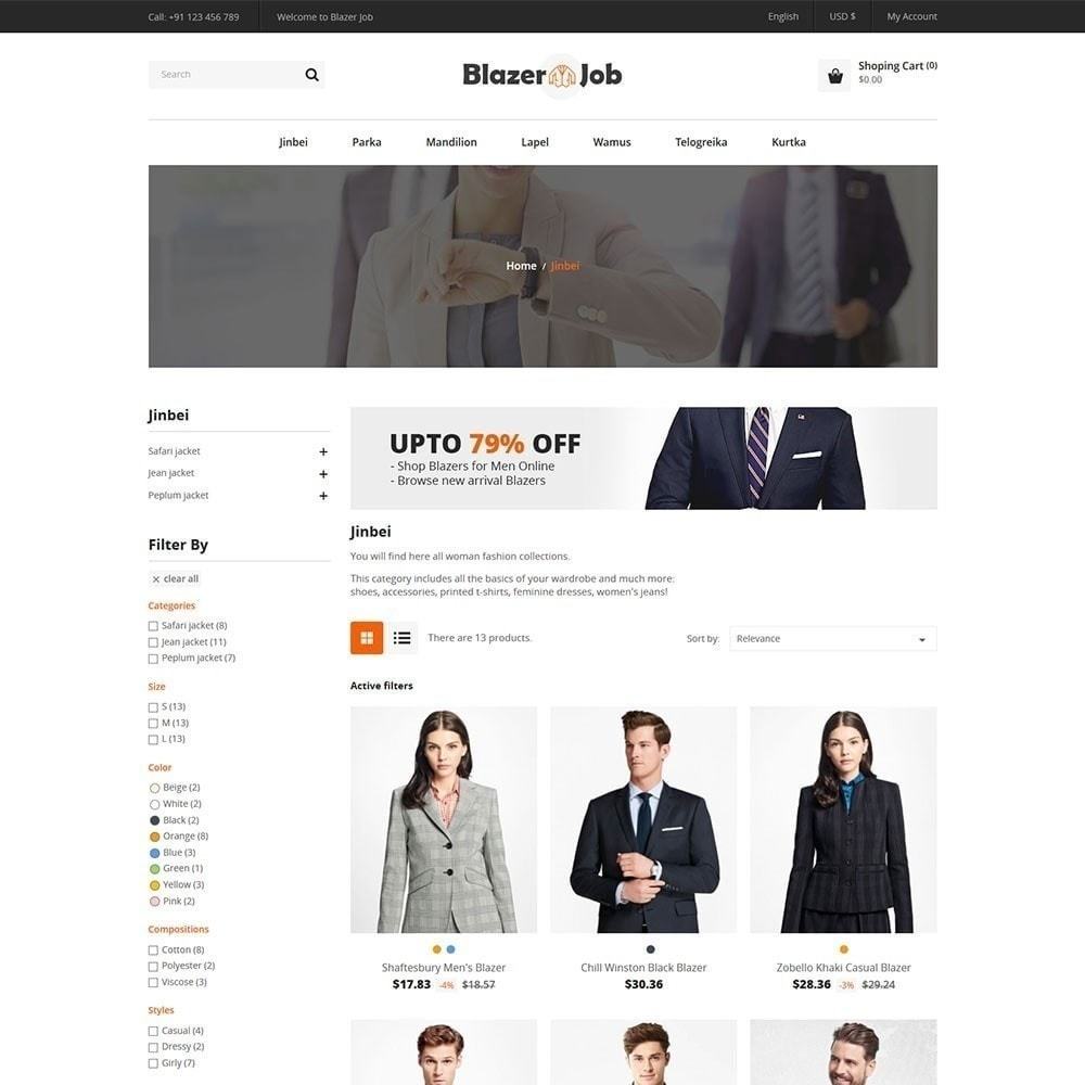 theme - Moda y Calzado - Blazerjob tienda de moda - 4