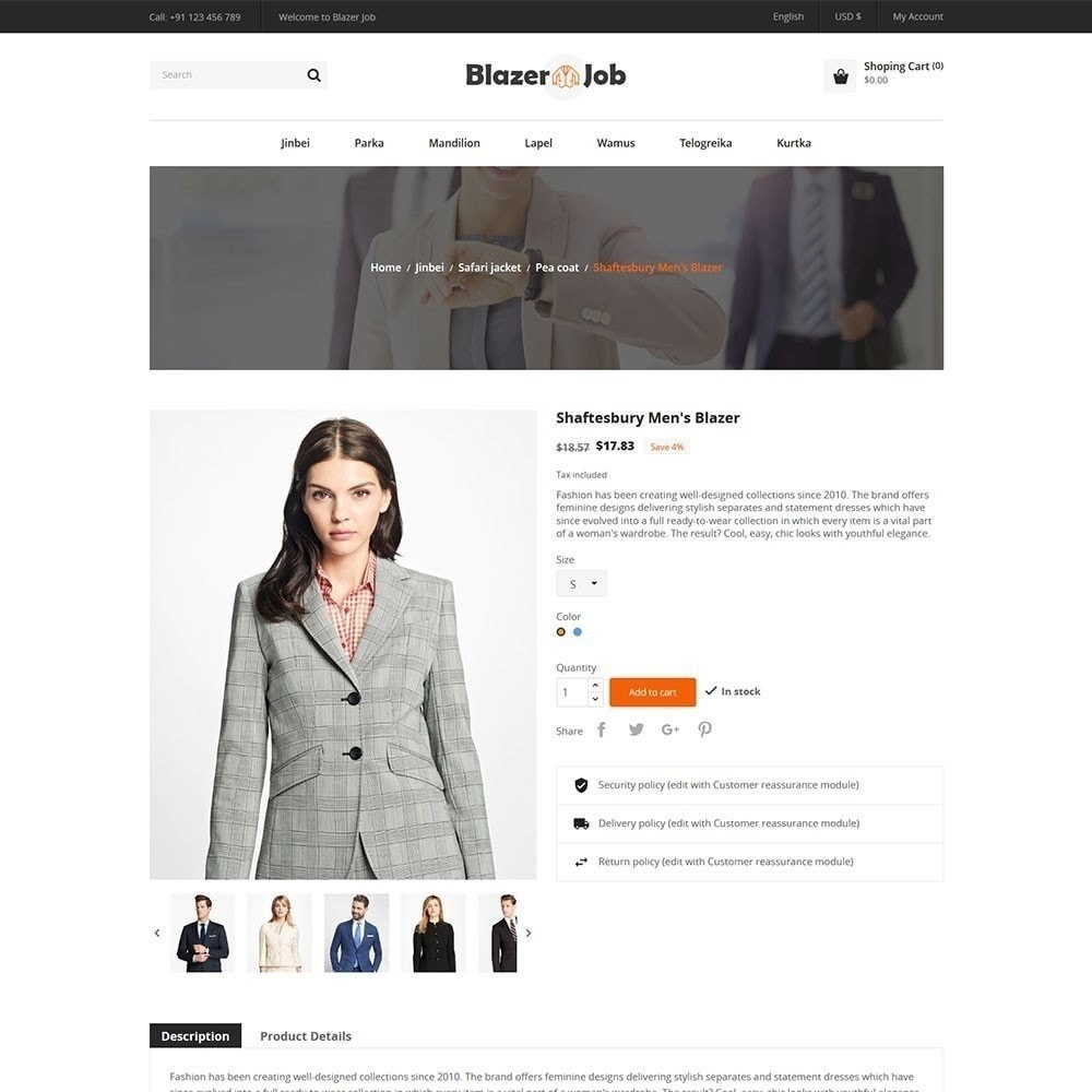 theme - Moda & Calzature - Blazerjob Fashion Store - 4
