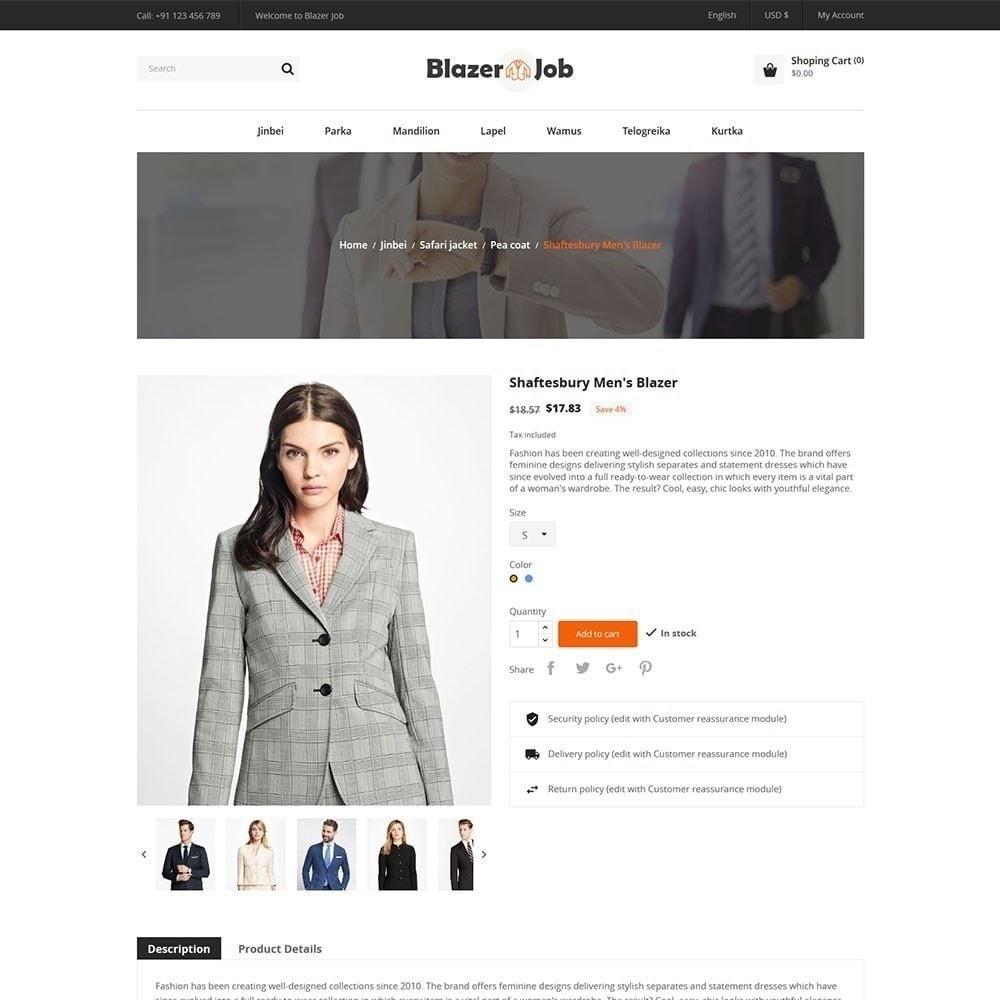 theme - Мода и обувь - Магазин одежды Blazerjob - 5