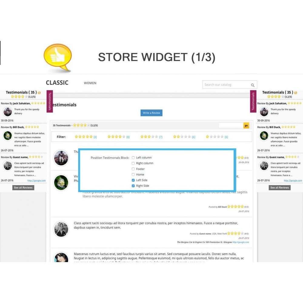 module - Отзывы клиентов - Shop Reviews + Avatars + Reminder + Rich Snippets - 7