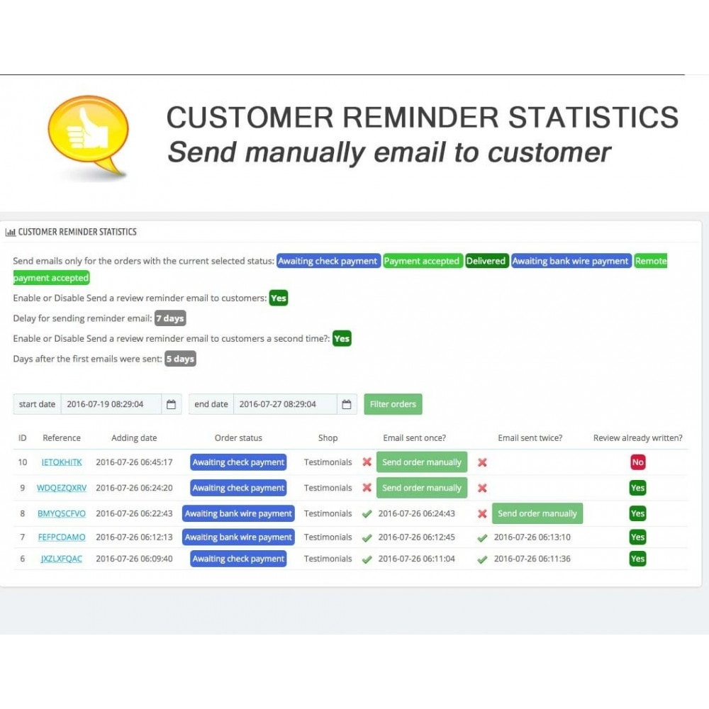 module - Comentarios de clientes - Shop Reviews + Avatars + Reminder + Rich Snippets - 17