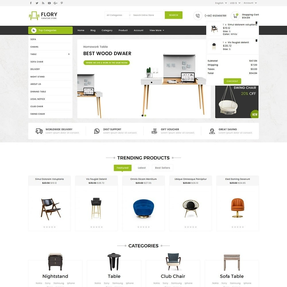 theme - Home & Garden - Flory Wood and Furniture Store - 3