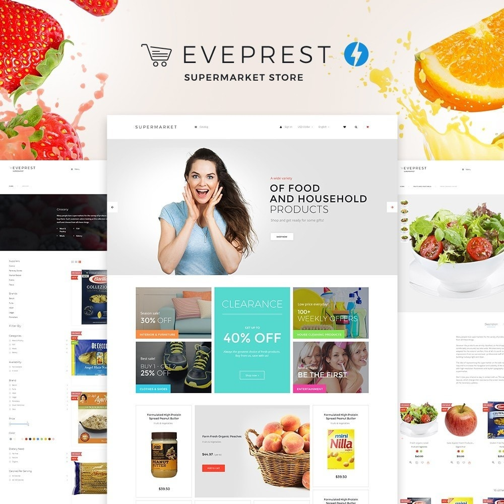 theme - Food & Restaurant - Eveprest - Supermarket Store - 3