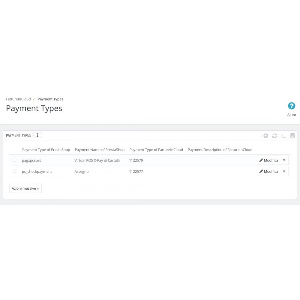 module - Boekhouding en fakturatie - Send invoices/orders/clients to FattureinCloud.it - 4