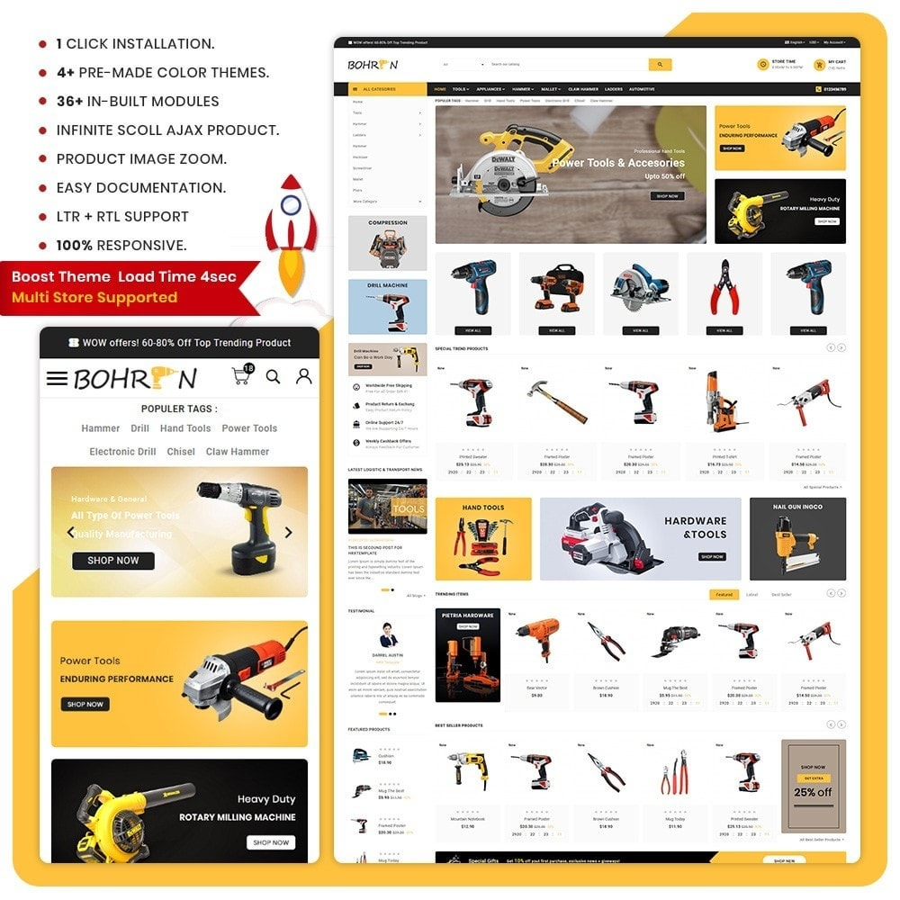 theme - Automotive & Cars - Bohren Outils - Tools Big Store - 1