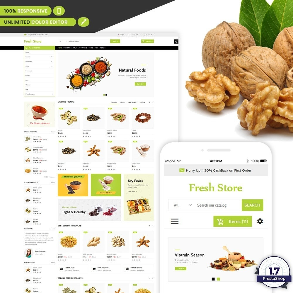 theme - Lebensmittel & Restaurants - Fresh Store The Grocery Shop - 2