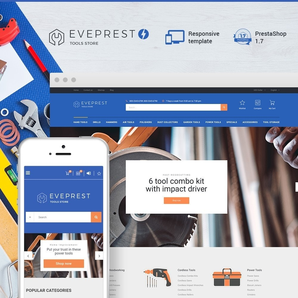 theme - Electronics & Computers - Eveprest - Tools Store - 1
