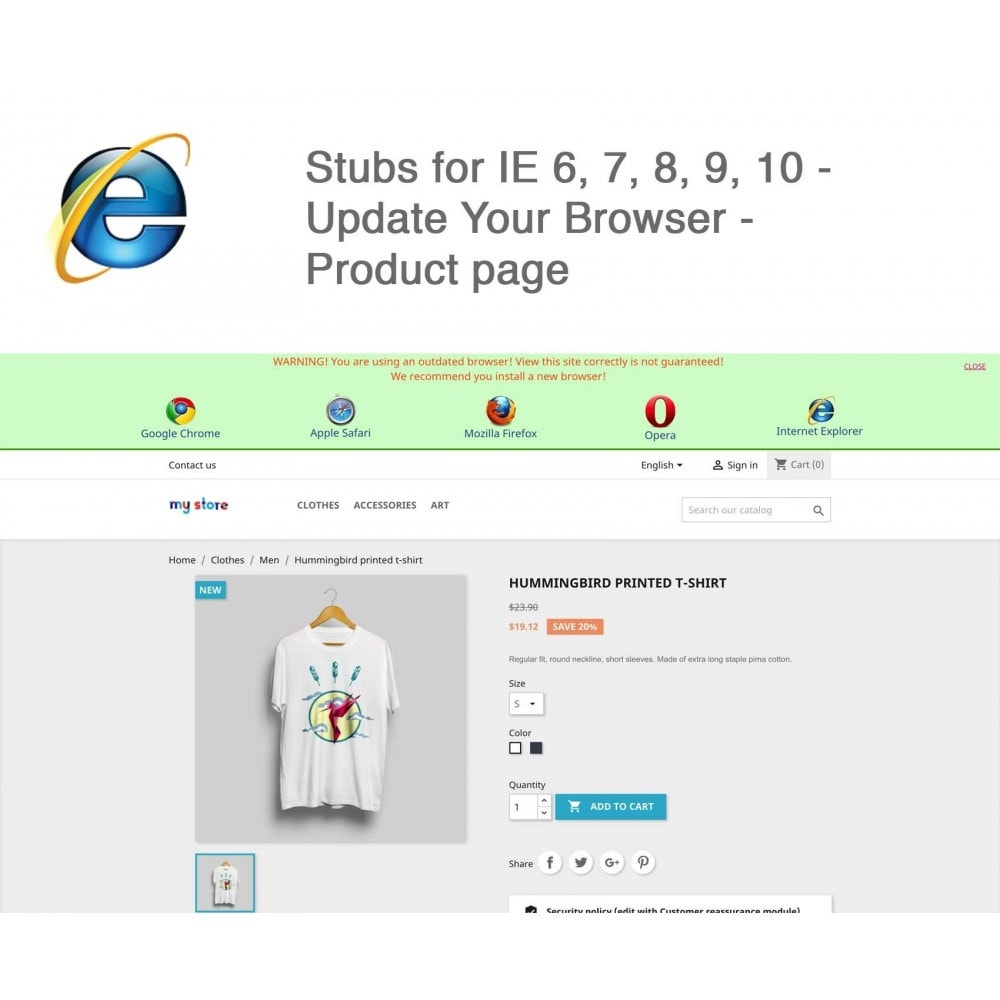 module - Migratie & Backup - Stubs for IE 6,7,8,9,10 - Update Your Browser - 2