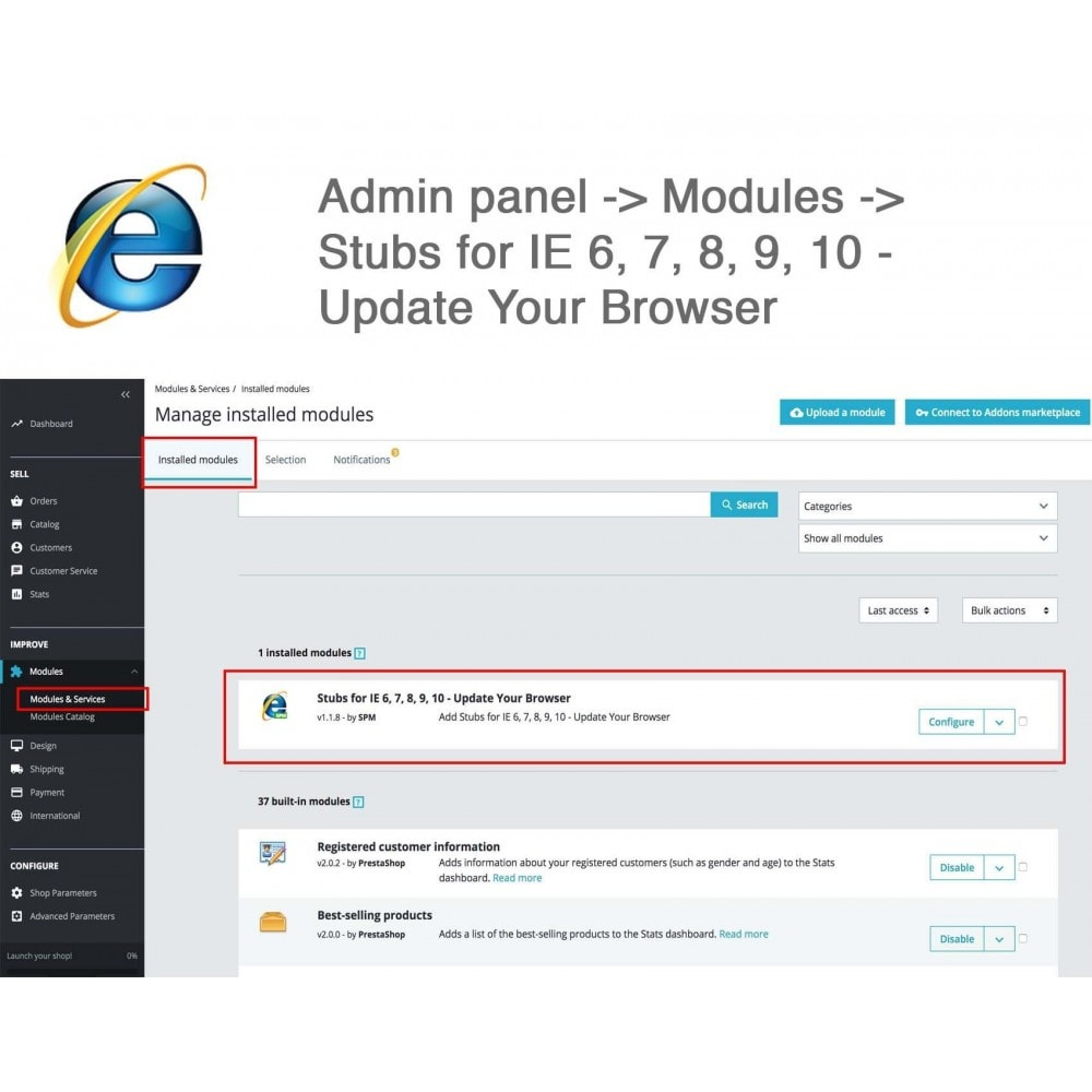 module - Migratie & Backup - Stubs for IE 6,7,8,9,10 - Update Your Browser - 3
