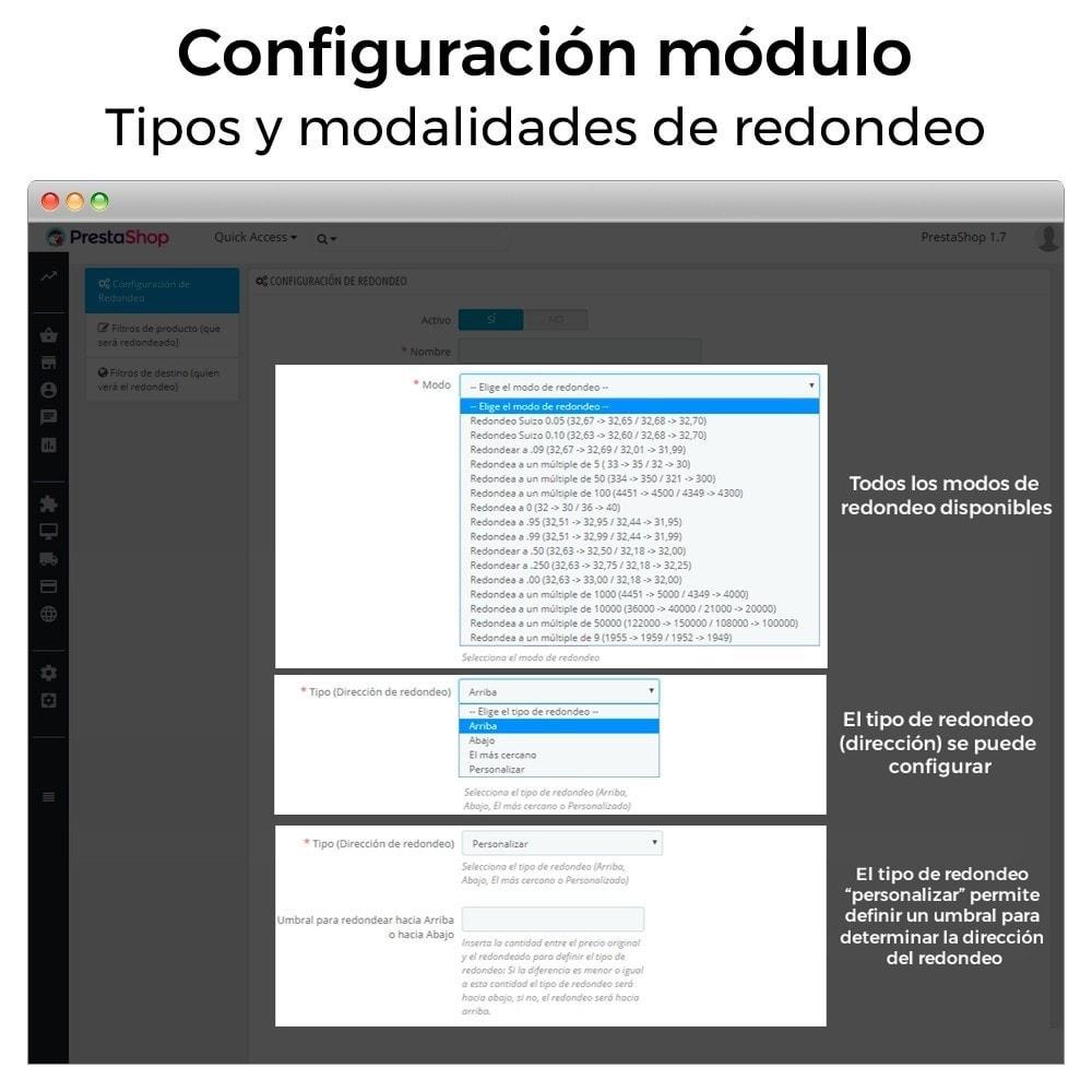 module - Gestión de Precios - Redondear precios (5ct, 10ct, .99, .95, Suizo, etc...) - 7