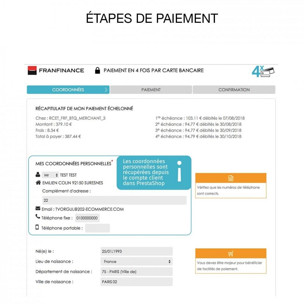 module - Paiement par Carte ou Wallet - Solutions de Paiement avec Franfinance - 6