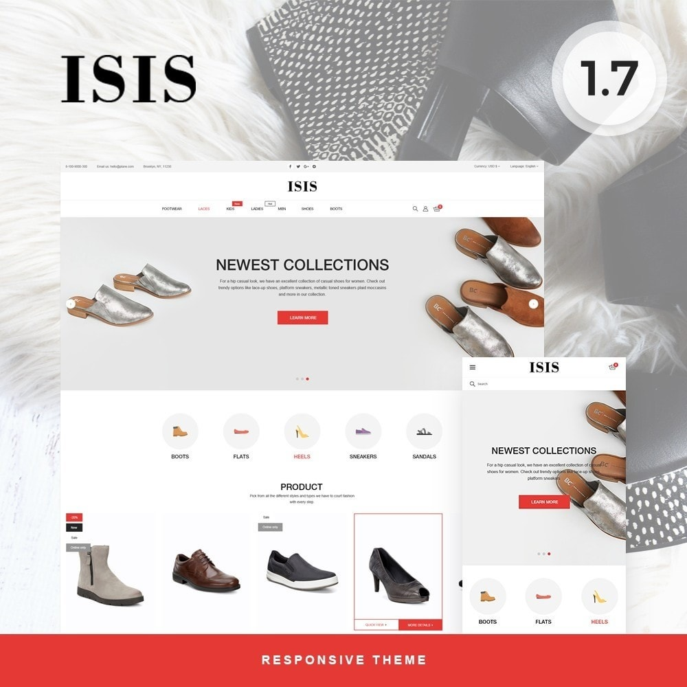 theme - Fashion & Shoes - Isis Shop - 1