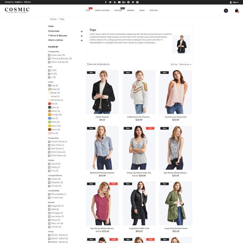 theme - Fashion & Shoes - Cosmic Fashion Store - 6