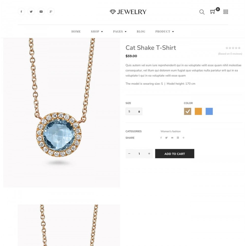 theme - Bijoux & Accessoires - Babi - Jewelry Store eCommerce Bootstrap 4 Template - 2