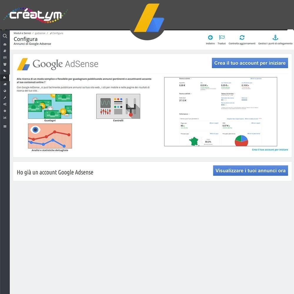 module - Indicizzazione a pagamento (SEA SEM) & Affiliazione - Google Adsense - 2