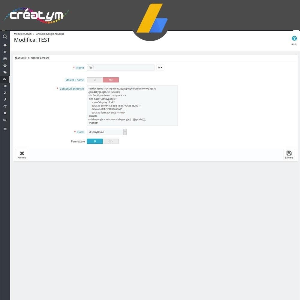 module - Indicizzazione a pagamento (SEA SEM) & Affiliazione - Google Adsense - 4