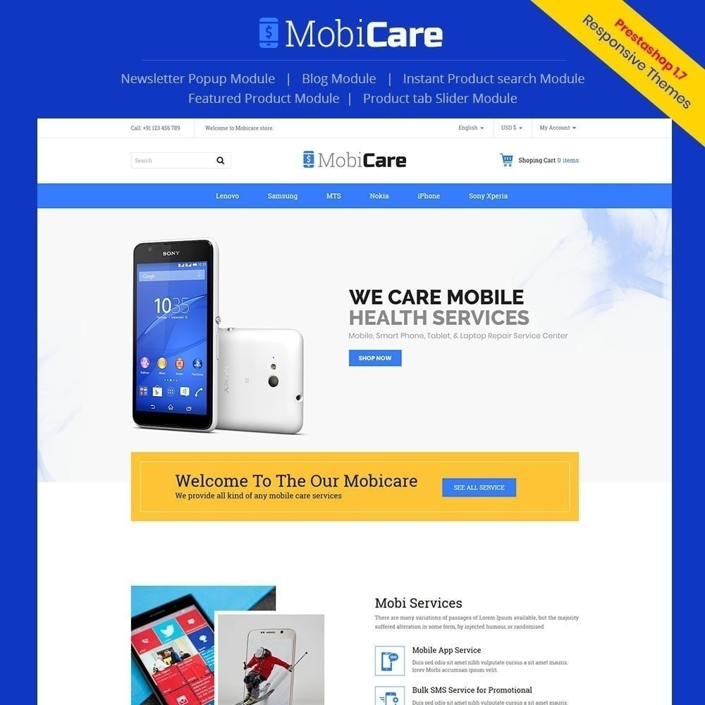 theme - Electronics & Computers - Mobicare - Electronics Store - 1