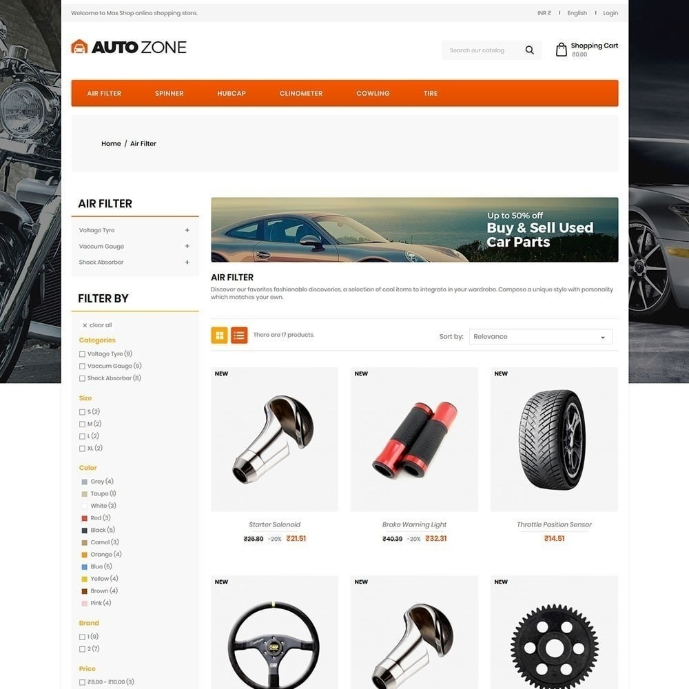 theme - Auto & Moto - Autozone - Auto Store - 5