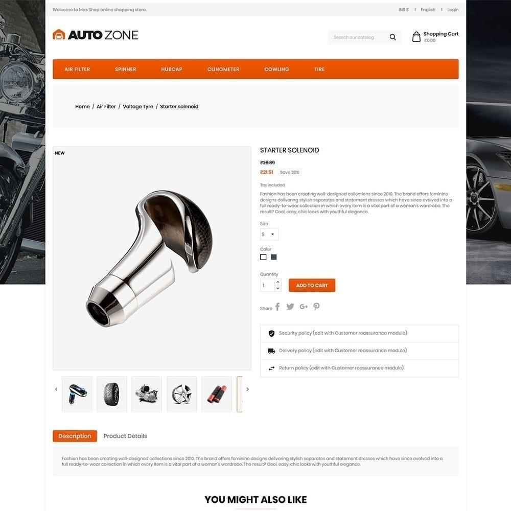 theme - Samochody - Autozone - Auto Store - 4