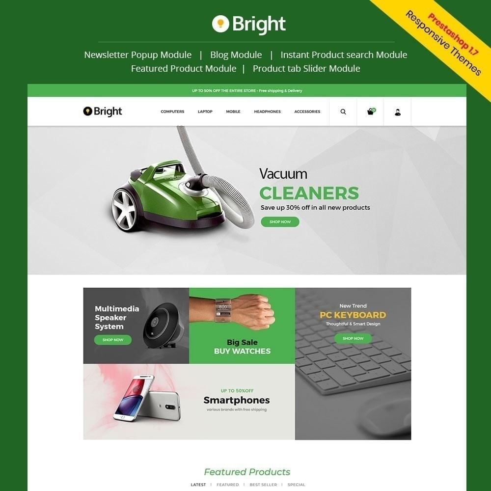 theme - Electronique & High Tech - Magasin d'électronique Bright - 1
