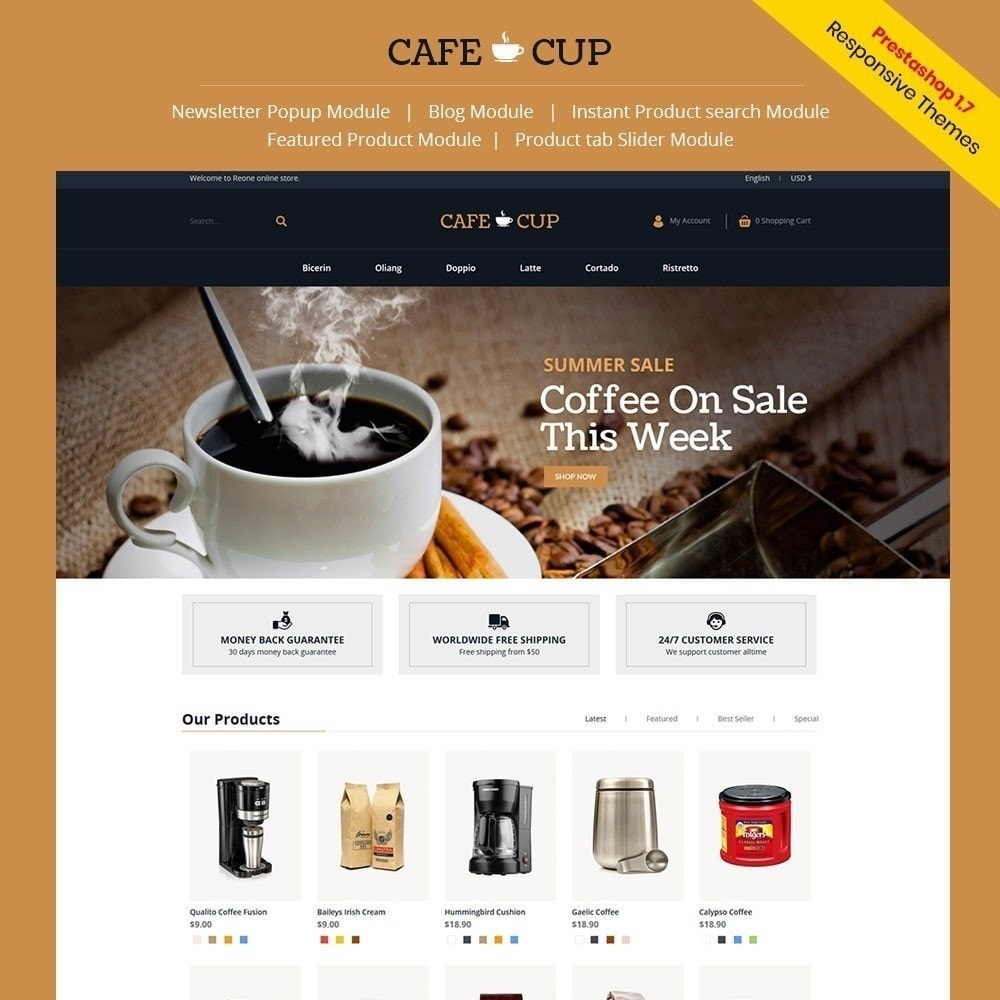 theme - Food & Restaurant - Cafe cup - Coffee Store - 1