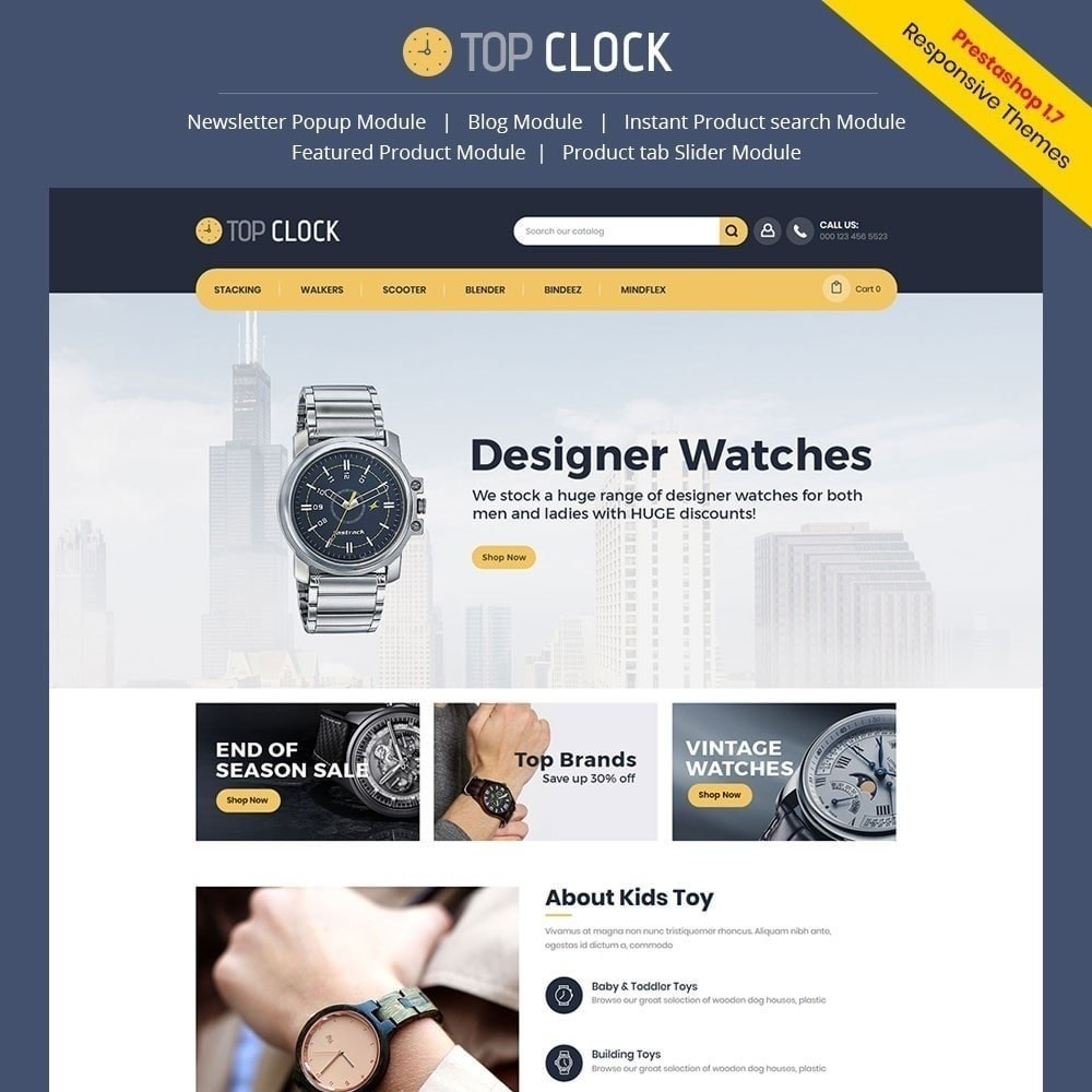 theme - Mode & Schoenen - Topklok - Watch Store - 1