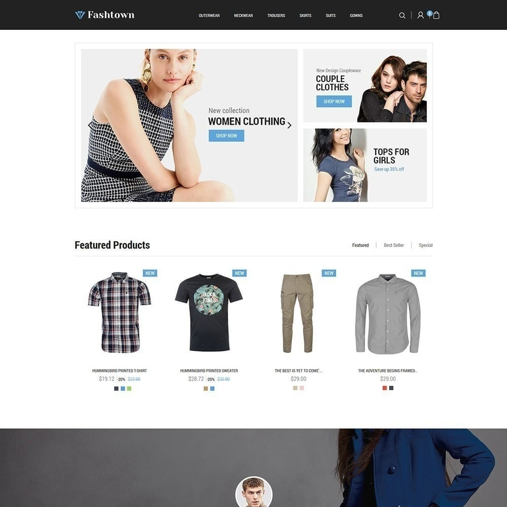 theme - Fashion & Shoes - Fashtown - Fashion Store - 2