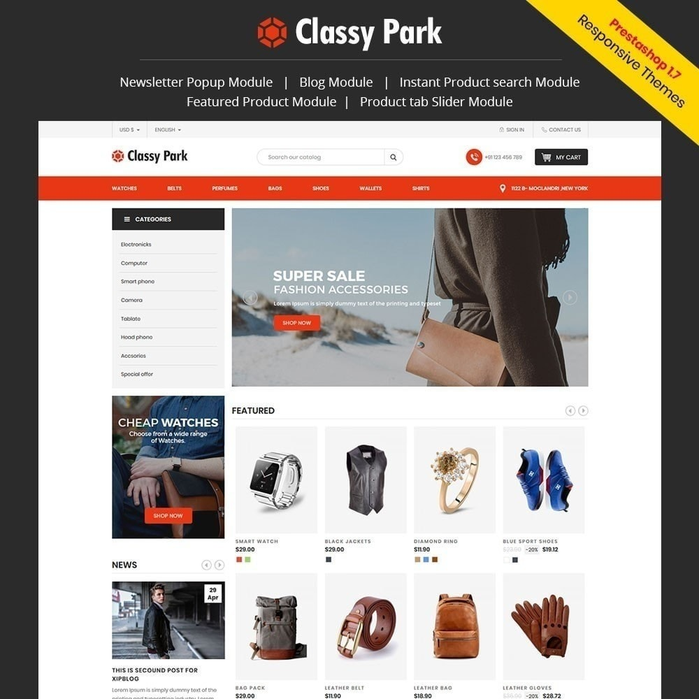theme - Moda & Obuwie - Elegancki sklep odzieżowy - 1