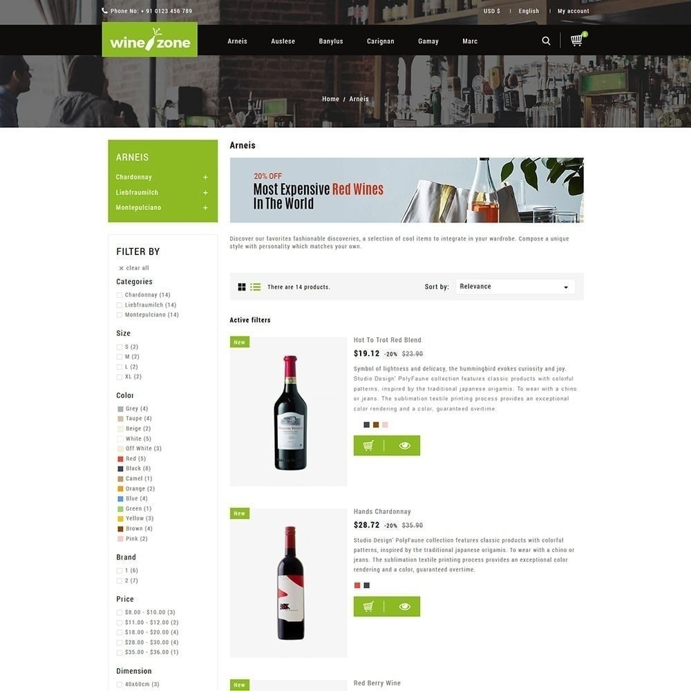theme - Food & Restaurant - Winezone - Wine Store - 4