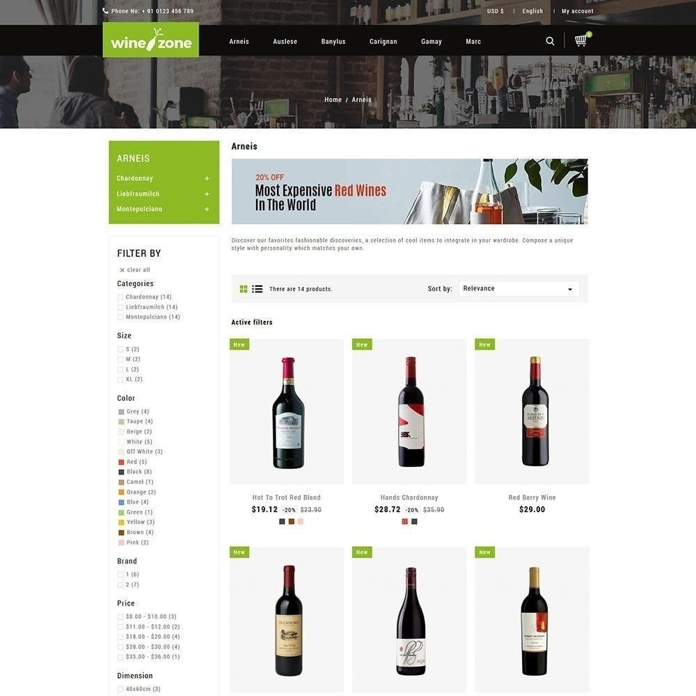theme - Boissons & Tabac - Winezone - Magasin de vin - 2