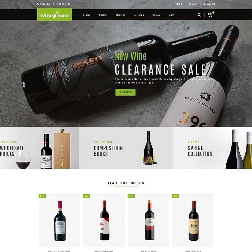 theme - Żywność & Restauracje - Winezone - Wine Store - 2