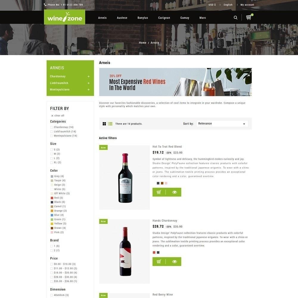 theme - Продовольствие и рестораны - Winezone - магазин вина - 4