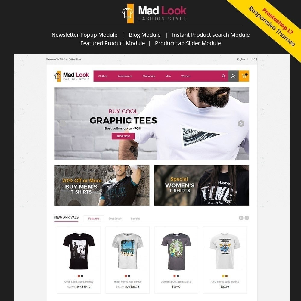theme - Mode & Chaussures - Magasin de mode Madlook - 1