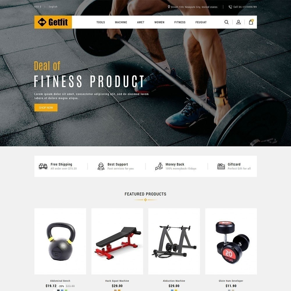 theme - Moda & Calzature - Get Fit Gym Store - 2
