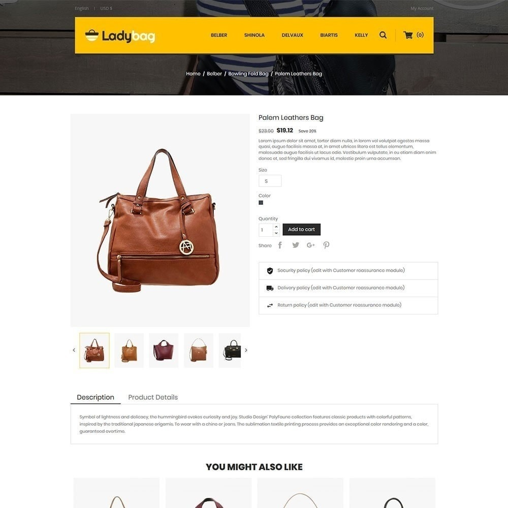 theme - Mode & Chaussures - Magasin de sacs Ladybag - 5