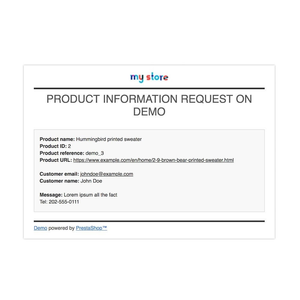 module - Zusatzinformationen & Produkt-Tabs - Product Info Requests - 5