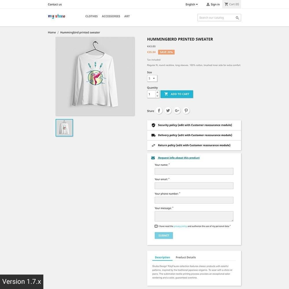 module - Altre informazioni & Product Tab - Richiedi informazioni prodotto - 3