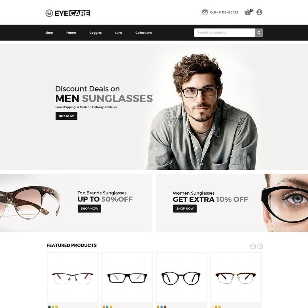 theme - Fashion & Shoes - Eyecare - Fashion Store - 2
