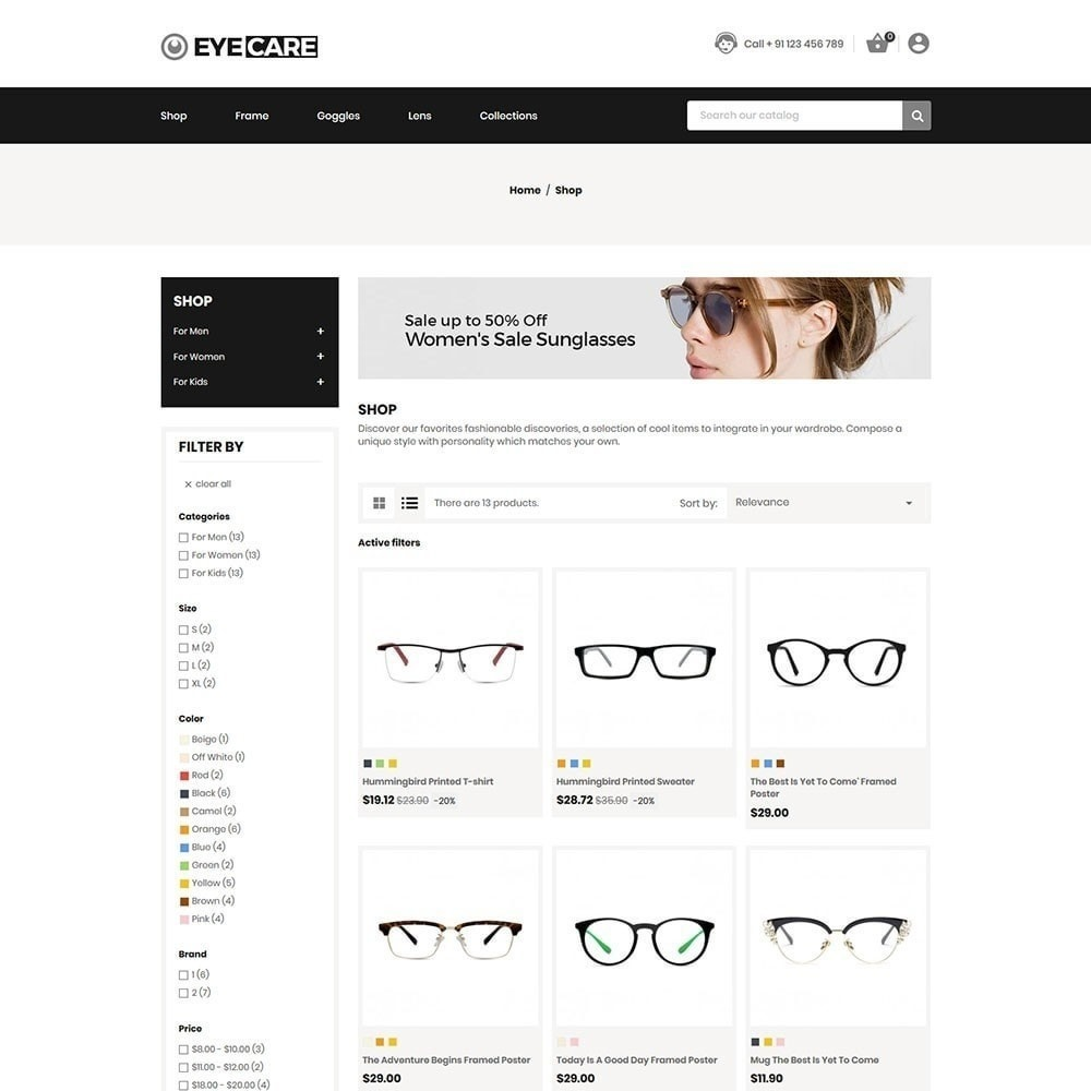 theme - Mode & Chaussures - Eyecare - Magasin de mode - 4
