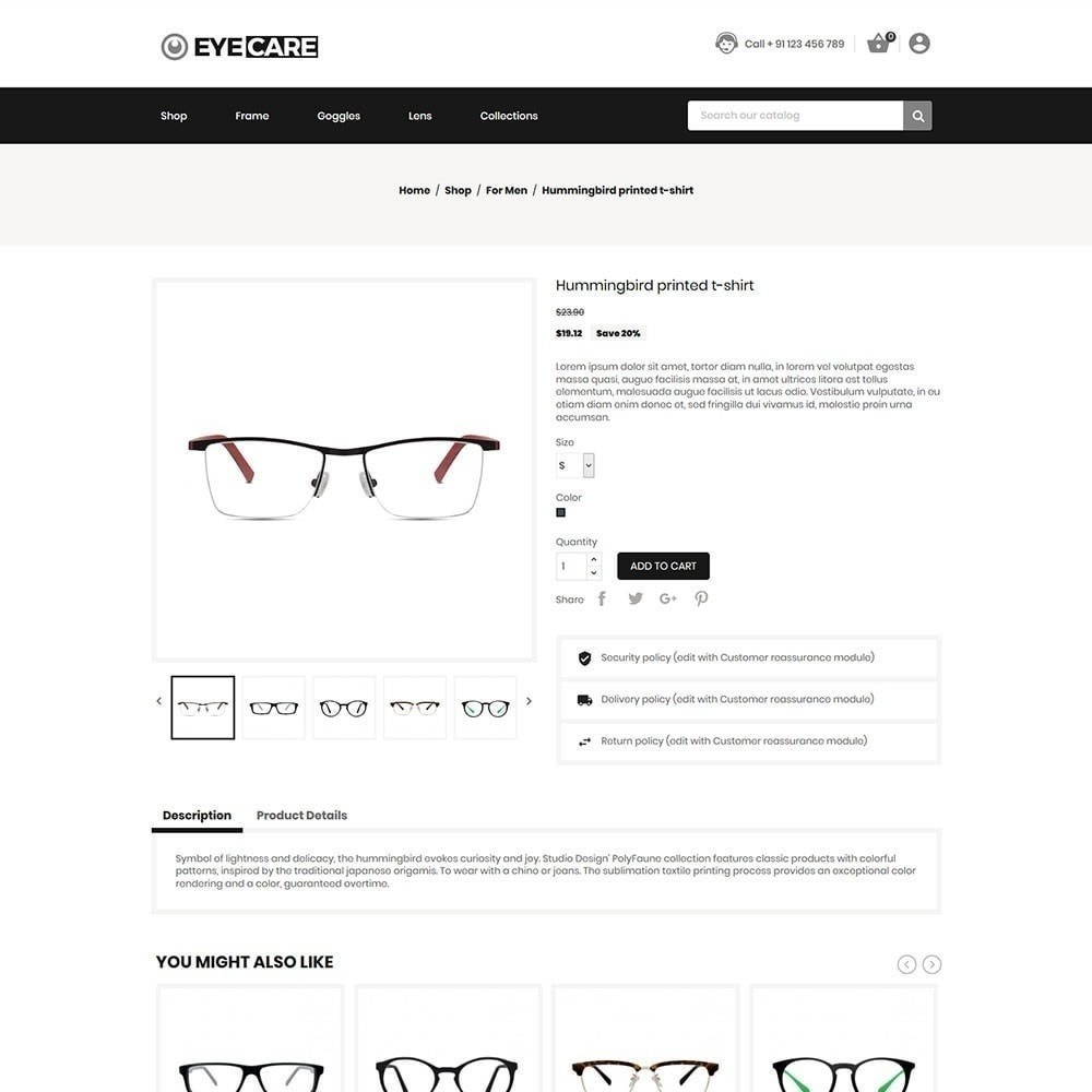 theme - Moda y Calzado - Eyecare - Tienda de moda - 5