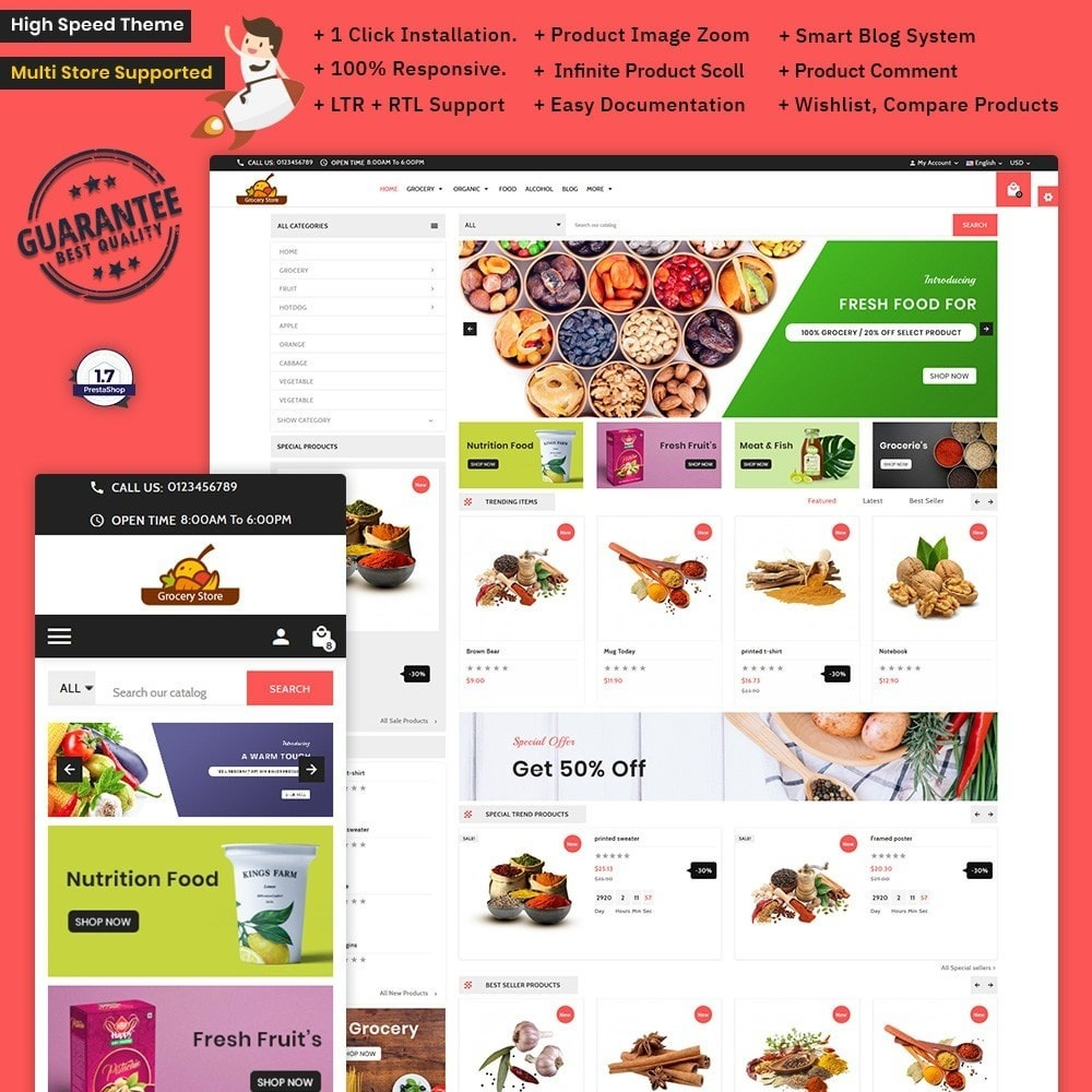 theme - Health & Beauty - Grocery Store – Grocery Mega Shop - 1