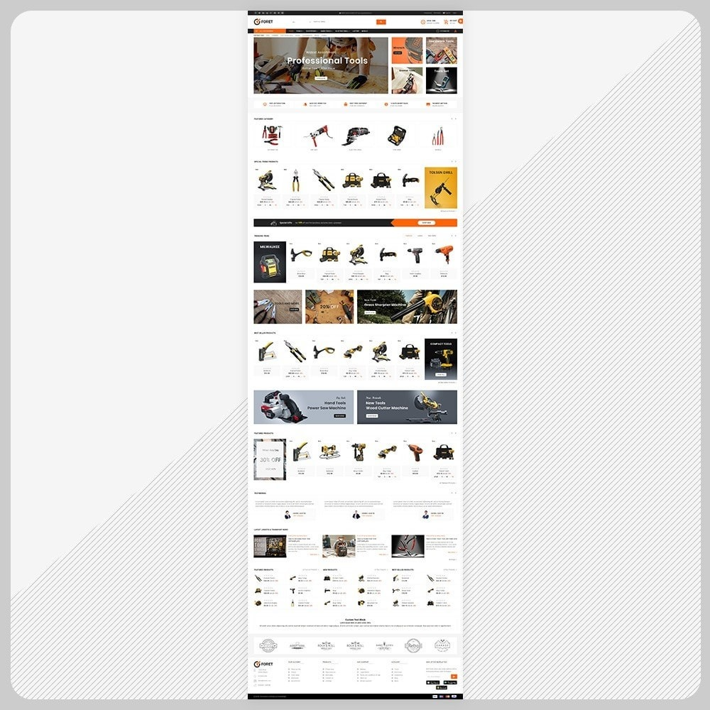 theme - Automotive & Cars - Foret Outils – Tools Big Shop - 2