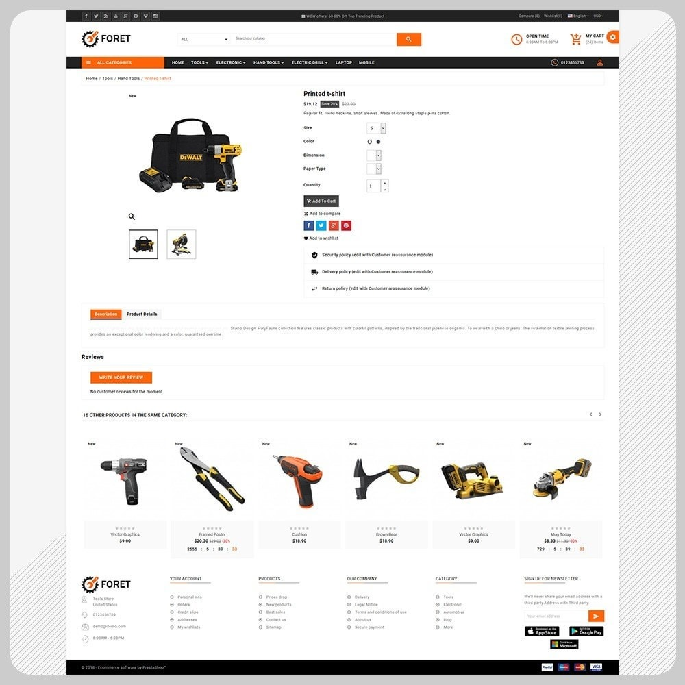 theme - Automotive & Cars - Foret Outils – Tools Big Shop - 4