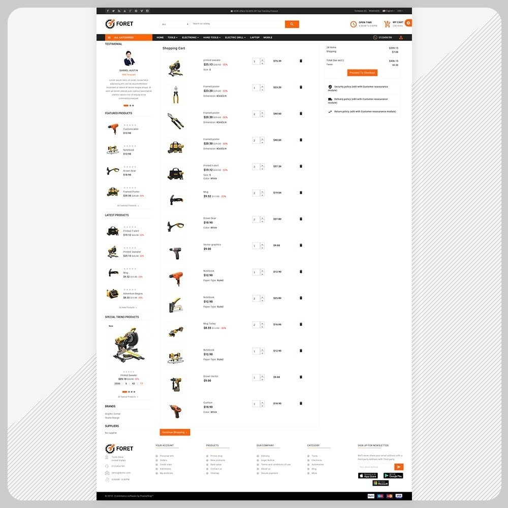 theme - Automotive & Cars - Foret Outils – Tools Big Shop - 5